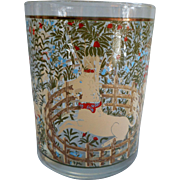 Cera Enchanted Forest Unicorn Glass Tumbler Vintage Single