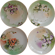 Antique Hand Painted China Bread Plates Or Use For Small Dessert