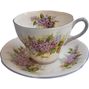 Royal Albert Blossom Time Series Lilac Cup Saucer Vintage Bone China