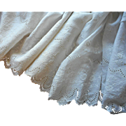 Antique Fabric Petticoat Ruffling Eyelet Lace Embroidery Batiste Yardage
