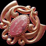 Monogram R Antique Chatelette Watch Pin Or Locket Hanger Pin