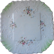 China Tea Trivet For Teapot Antique Octagonal White Pale Green Flowers