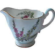 Foley Highland Heather Creamer Bone China Vintage
