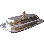 Butter Dish Glass Insert Park Lane Vintage Silver Plated Oneida