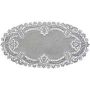 1920s Bread Tray Doily Linen Lace Vintage