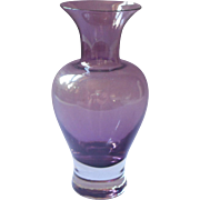 Vintage Purple Glass Vase
