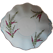 Foley Highland Heather Dessert Serving Plate Bone China Vintage
