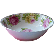 Antique China Bowl Pink Yellow Roses A Little TLC