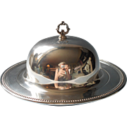 Vintage Round Butter Dish Oneida Silver Plated