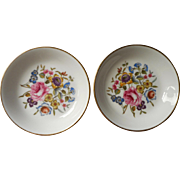 Royal Worcester Pair Pin Dishes Ashtrays Vintage Bone China English