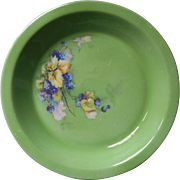 Vintage 1920s Pie Plate Royal Rochester Fraunfelter China Berries Green Hand Painted
