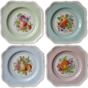 Vintage Johnson Brothers Square Fruit Salad Dessert Plates 4