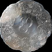 Monogram P Vintage Trivet Silver Plated