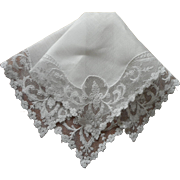 Net Lace Linen Vintage Hankie