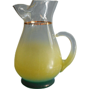 Blendo Rare Color Combo Pitcher Vintage Real Yellow West Virginia Glass