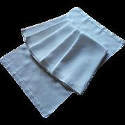 Set 6 Antique Towels Linen Damask Morning Glories Weave Hand Size