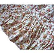 Ruffles For Days Vintage Bedspread Pink Flowered Cotton Roses