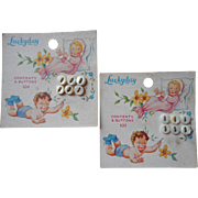 Vintage Baby Buttons Original Card Mother Of Pearl Pretty Graphic - Red Tag Sale Item