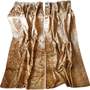Antique Cut Velvet Curtains Portieres Victorian Reversible Gold