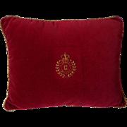 Velvet Pillow Metal Thread Enbroidery Chaps Ralph Lauren
