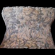Vintage Tapestry Wall Hanging Dense Trees Herons Sqirrel Bridge River