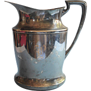 Monogram P Antique Apollo Water Pitcher Silver Plated Nickel