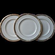 Royal Doulton Forsyth 3 Dinner Plates English Bone China Vintage