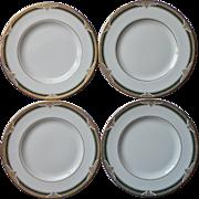 Royal Doulton Forsyth 4 Salad Plates English Bone China Vintage