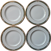 Royal Doulton Forsyth 4 Salad Plates English Bone China Vintage