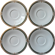 Royal Doulton Forsyth 4 Saucers English Bone China Vintage