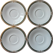 Royal Doulton Forsyth 4 Saucers English Bone China Vintage