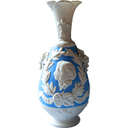Antique Parian Vase Blue Wedding Edward VII Alexandra Of Denmark