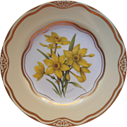 Daffodil Dessert Salad Plate Flowers Of The First Ladies Martha Washington