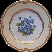 Violet Dessert Salad Plate Flowers Of The First Ladies Rachel Jackson