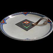 Art Deco 1930s Noritake China Nappy Dish Luster Platinum Trim Vintage