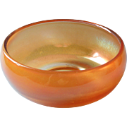 Vintage Carnival Glass Bowl Simple Shape Marigold