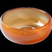 Vintage Carnival Glass Bowl Simple Shape Marigold