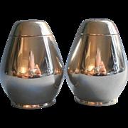 Gorham Sterling Silver Midcentury Salt Pepper Shakers Model 774 Pair