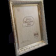 Vintage 1960s Frame Filigree Metal For 8 x 10 Photo White Washed Gilt Hollywood Regency