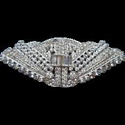 Vintage Dress Clips Duette Pin Brooch Rhinestone 1930s 1940s
