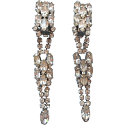 Vintage Long Rhinestone Drop Earrings Nice Quality