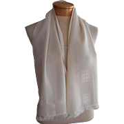 Gents Opera Scarf Vintage White Excellent Condition