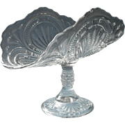Antique Banana Compote Stand Grapes EAPG Pressed Glass