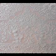 Cherubs Quaker Lace Tablecloth 1010 Vintage 94 x 68