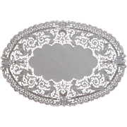 1920s Lace Linen Tray Doily Chemical Lace Mythical Figures