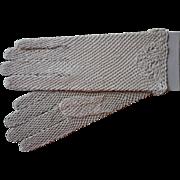Vintage Gloves Crocheted Lace Palest Ecru  Never Worn