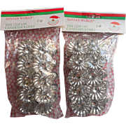 Vintage Kurt Adler West Germany Christmas Tree Candle Clips In Original Package 2 Sets of 10