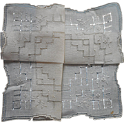 Vintage Hankie Unused Linen Hand Embroidery Hemstitching Decoration