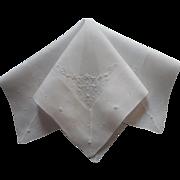 Vintage Madeira Hankie Hand Embroidery Deep Border Fine Cotton