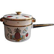 Georges Briard Ambrosia Enamel Enamelware Vintage Midcentury Double Boiler Pot